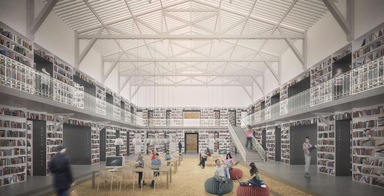 Biblioteca. Image Cortesía de LyonBosch Arquitectos y B+V Arquitectos