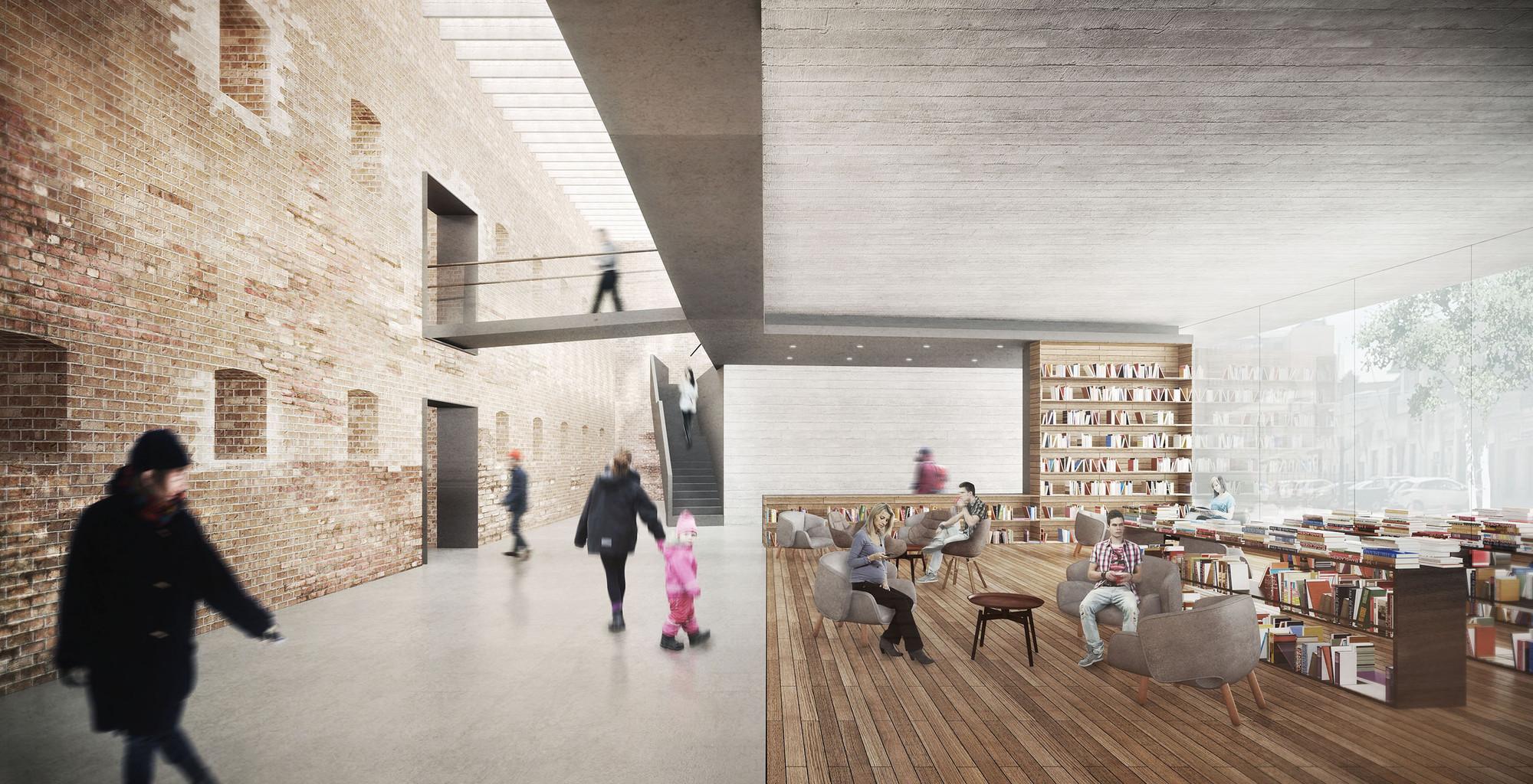 Café literario. Image Cortesia de LyonBosch Arquitectos y B+V Arquitectura