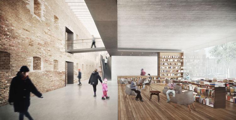 Café literario. Image Cortesía de LyonBosch Arquitectos y B+V Arquitectos