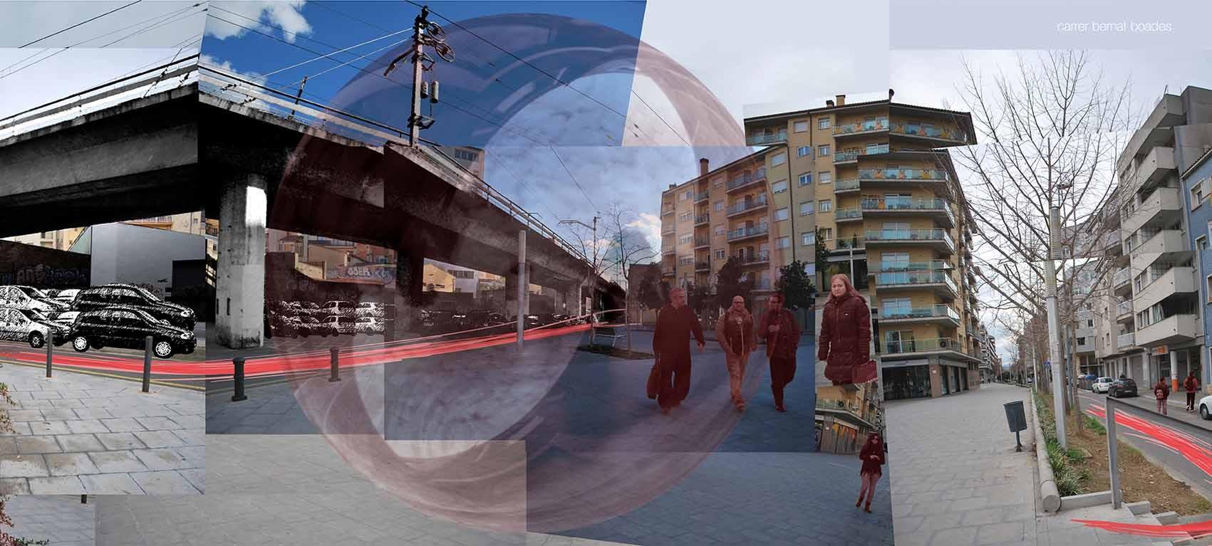 Sección: calle Bernat Boades. Image Cortesia de Chiara Signoroni y Manuela Scotti