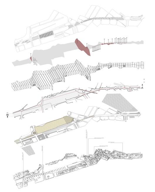Viaducto de Girona, propuesta para reintegrar la infraestructura a la ciudad, Despiece. Image Cortesia de Chiara Signoroni y Manuela Scotti