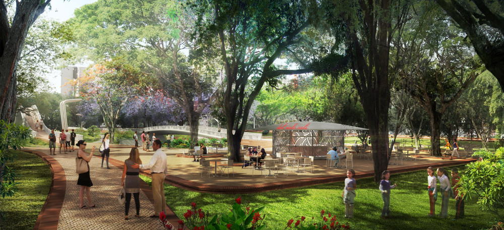 Gallery of west 8 set to revitalize colombia 39 s rio cali for Jardin plaza cali