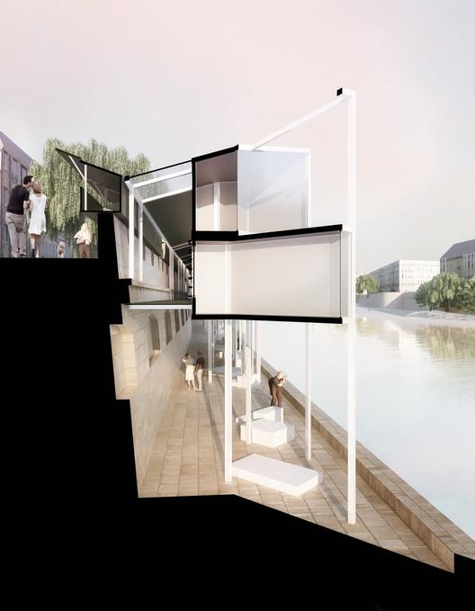 Corte. Imagen © MenoMenoPiu Architects
