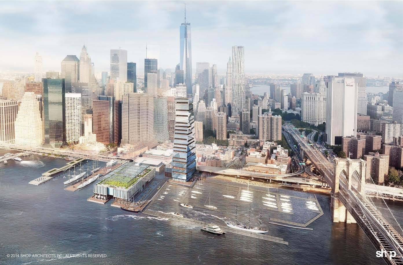 SHoP Architects Reveal Restoration Plan for New York's Seaport District, © SHoP Architects