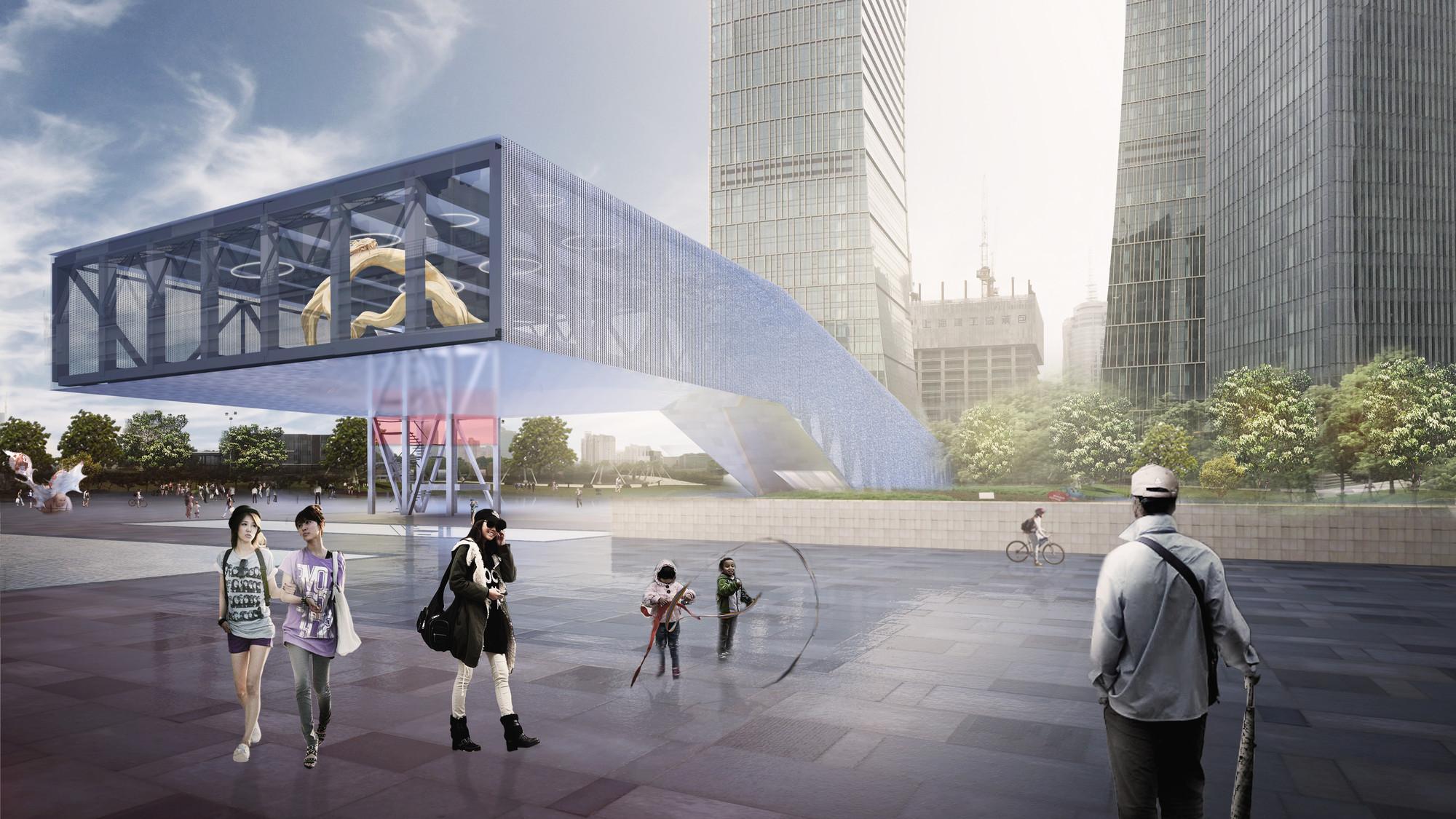 OMA gana concurso para diseñar centro de exhibición en Shanghai, © OMA