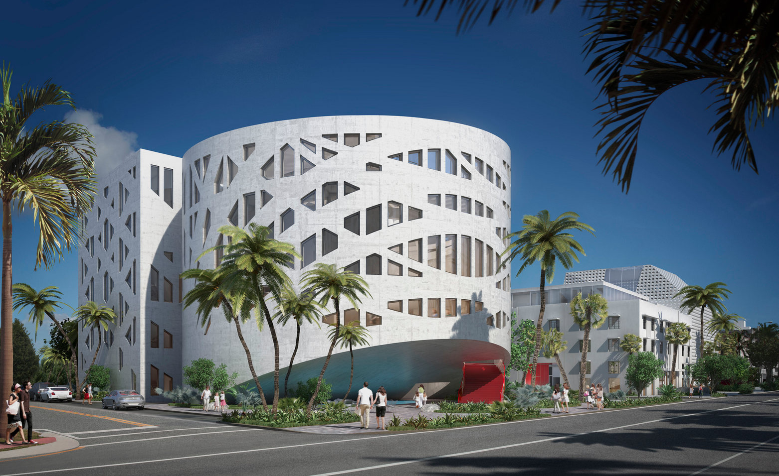 OMA's Pantheon-Inspired Faena Forum Set to Open in 2015, © OMA