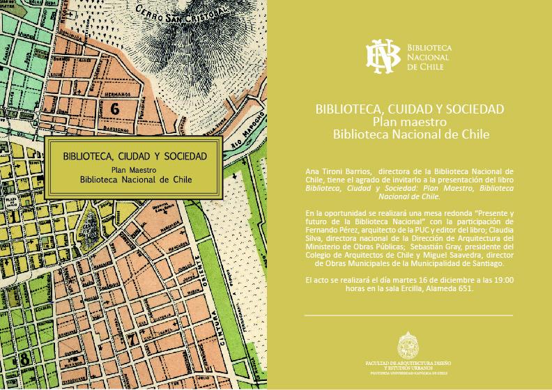 """Lanzamiento """"Biblioteca, ciudad y sociedad"""" en Biblioteca Nacional / Santiago"""