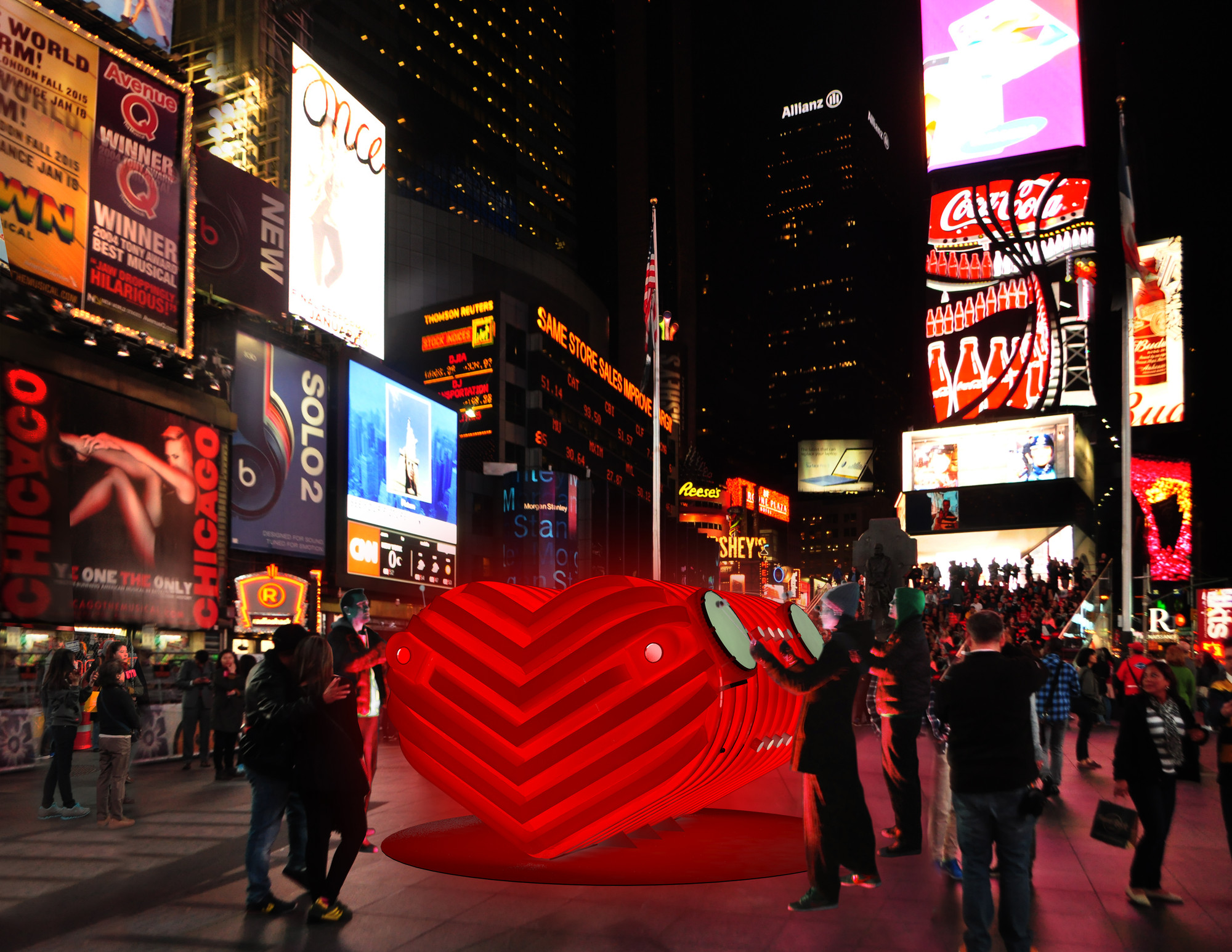 Stereotank Designs Heart-Beating Urban Drum for Times Square, © Stereotank