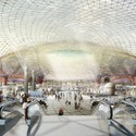 Foster + Partners and FR-EE's design for the new Mexico City Airport. Image Courtesy of DBOX for Foster + Partners