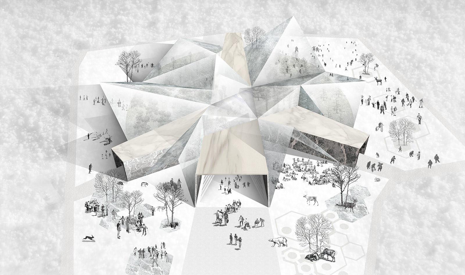 """Mención honrosa: """"Santa Claus jardín planetario"""", El Hadi Jazairy, Chen Lu y Kelly Koh, Estados Unidos. Imágen cortesía de Unbelievable Challenge"""