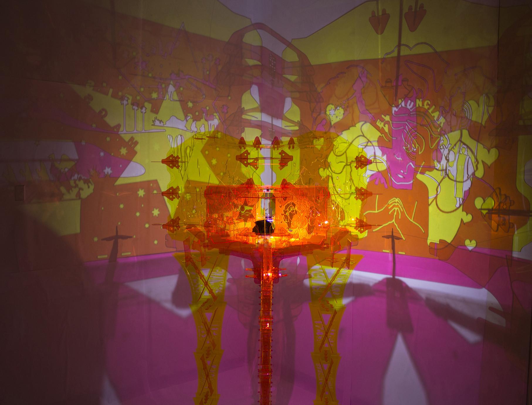 Arte y Arquitectura: La Llum de la Nativitat representando la historia de la Navidad, Cortesia de MAGICARCH + XPIRAL