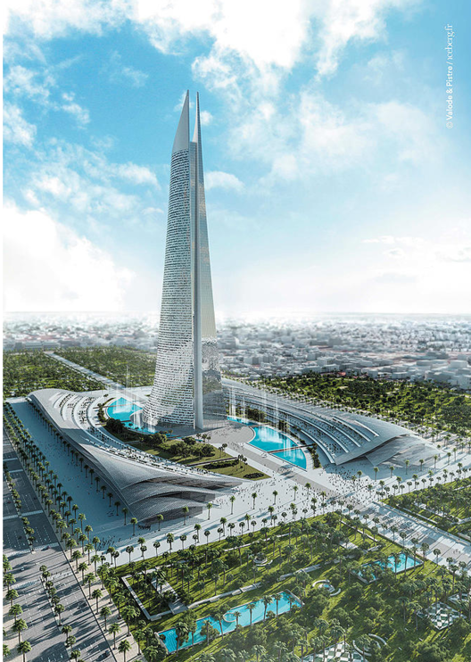 Valode & Pistre Set to Break Ground on Africa's Tallest Tower, © Valode & Pistre / iceberg.fr