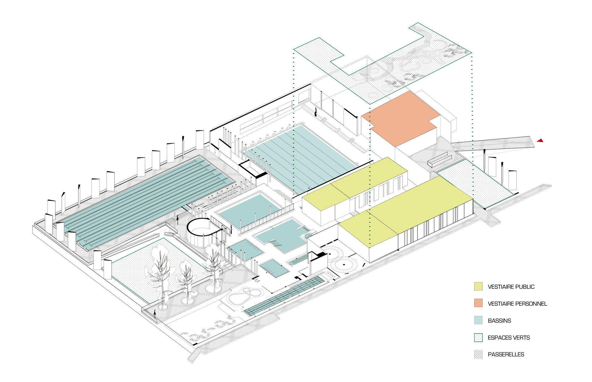 Aquatic centre louviers drd architecture archdaily for Pool enclosure design software