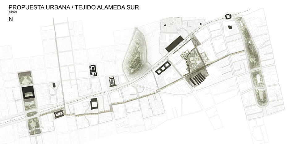 Propuesta urbana / Tejido Alameda Sur