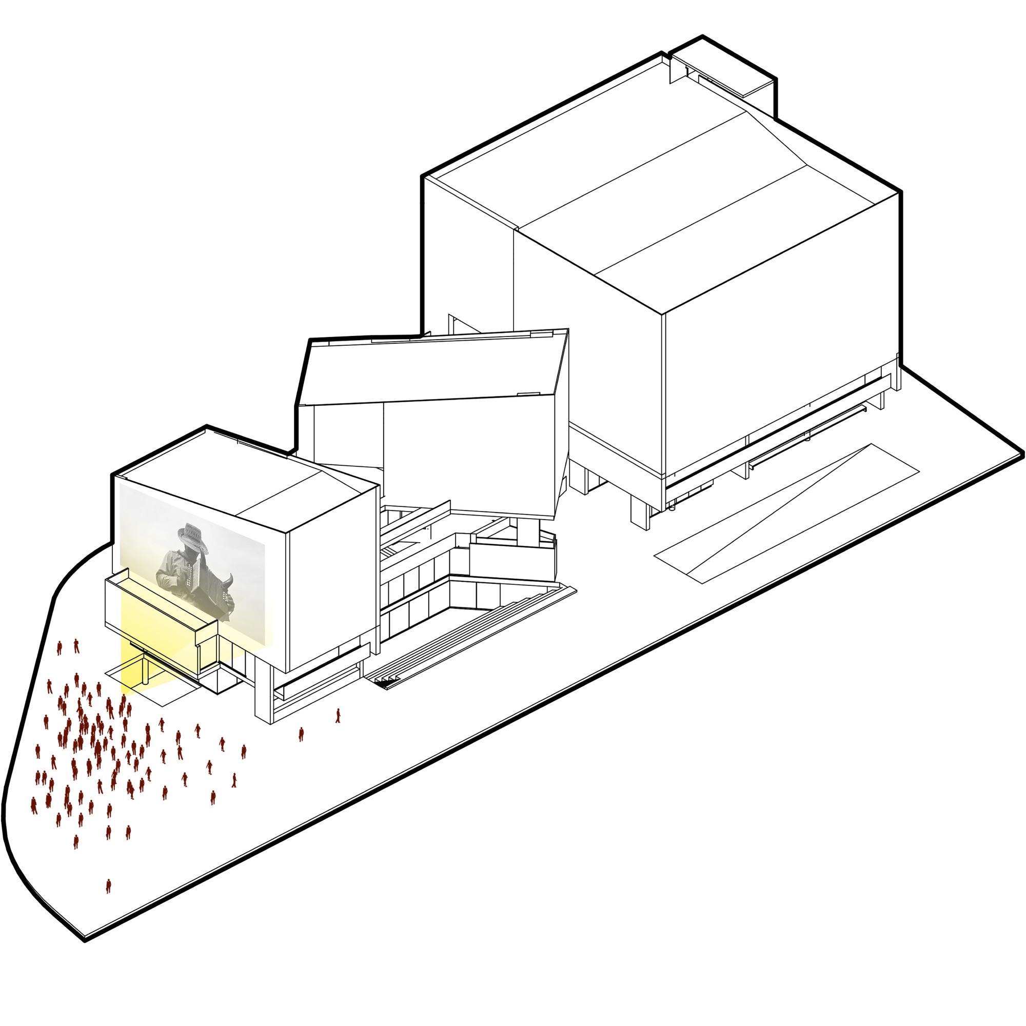 Usos #01. Image Cortesia de Eje A Arquitectura y Urbanismo