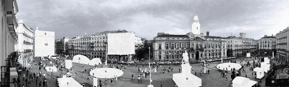 Propuesta: Keplero, panorámica de Puerta del Sol. Image Cortesia de Fosbury Architecture