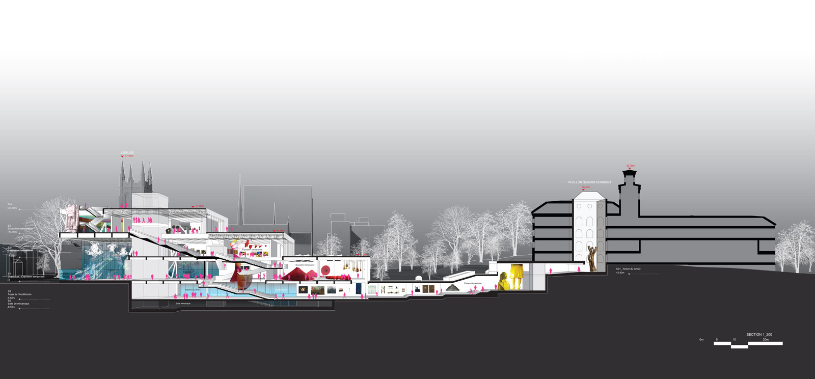 Oma tops out on beaux arts museum in quebec archdaily for Oma design museum