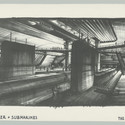 "Design of ""Super-Tanker Liparus and Submarines"" for The Spy Who Loved Me, GB/USA 1977, Directed by Lewis Gilbert. Image © Sir Ken Adam, Deutsche Kinemathek – Ken Adam Archive"