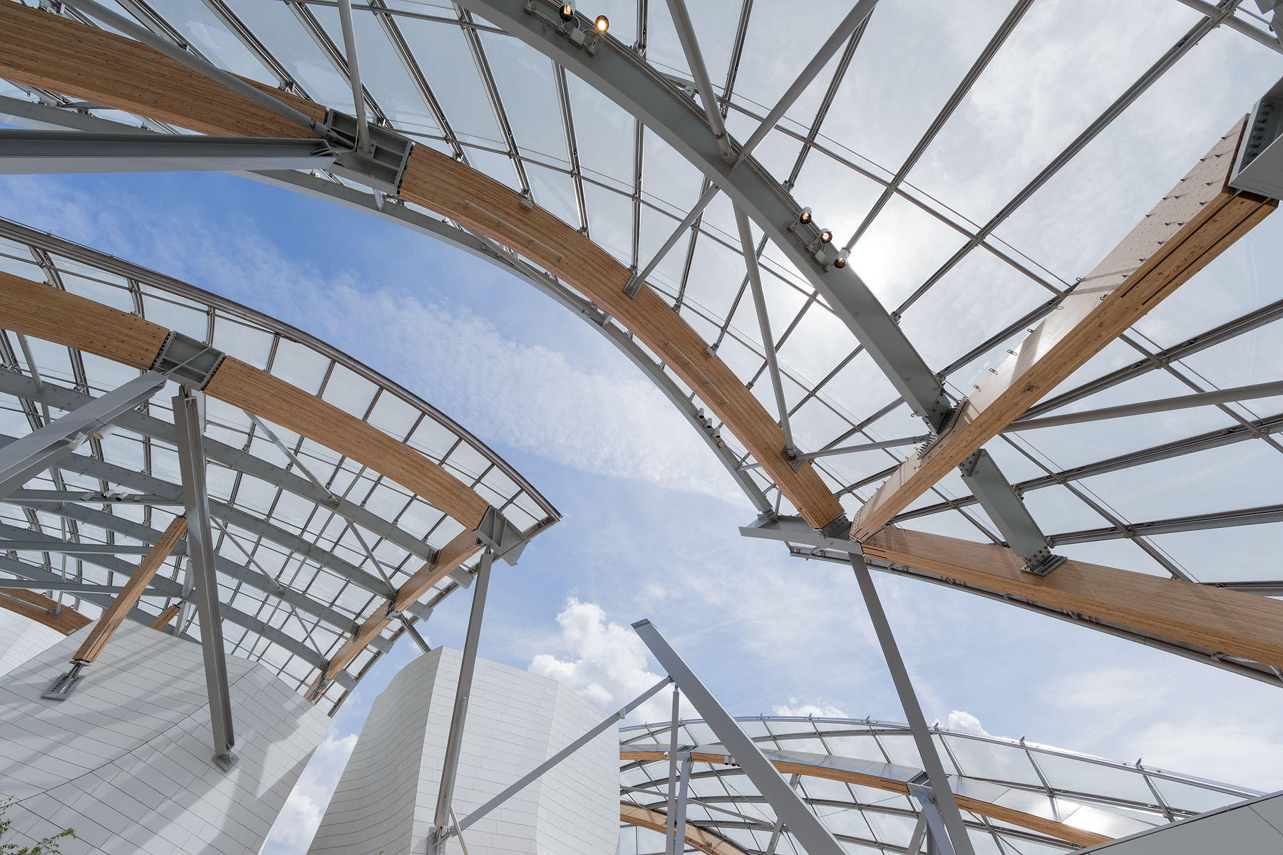 Fundación Louis Vuitton, Frank Gehry. Imagen © Iwan Baan