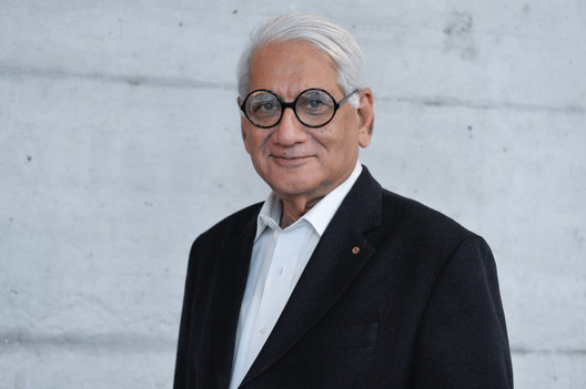 Charles Correa, Indian architect and recipient of the RIBA Gold Medal (1984). Image © Charles Correa Associates