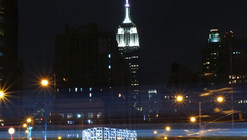 "INABA Frames Empire State Building with Animated ""New York Light"" Installation"