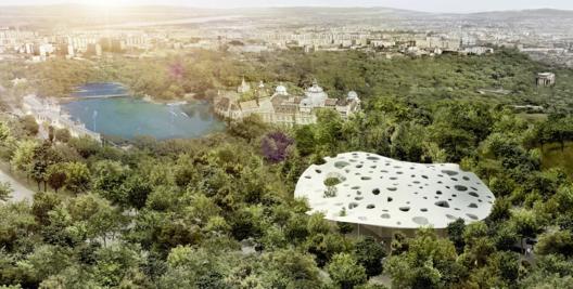 © Sou Fujimoto Architects, Courtesy of Liget Budapest