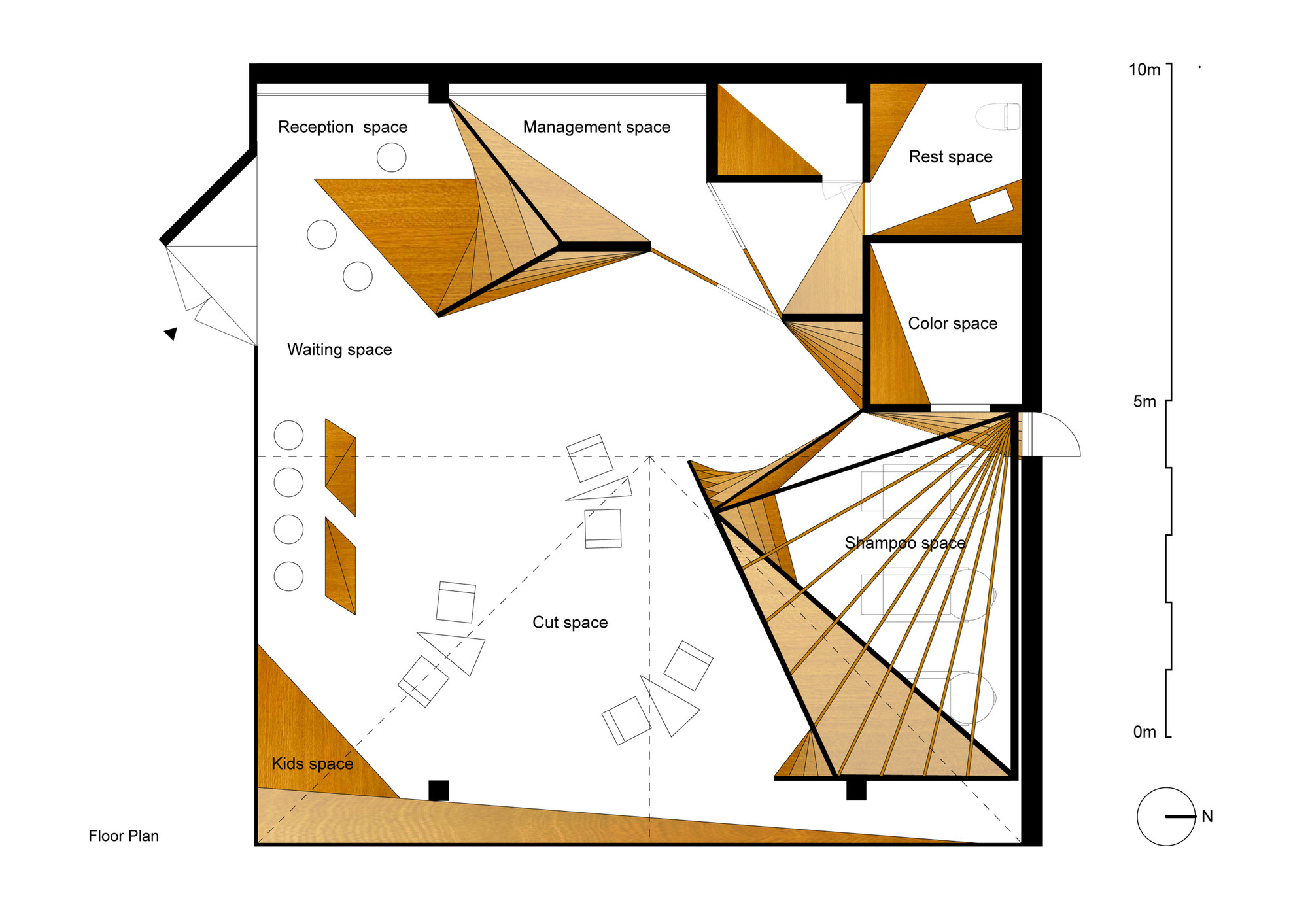 Hair salon slundre bhis archdaily for Design a beauty salon floor plan