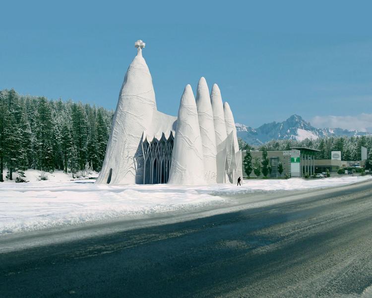 Estudiantes viajan a Finlandia para construir la Sagrada Familia de hielo, Visualización. Image Cortesía de Eindhoven University of Technology