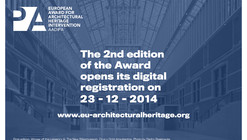 Registration Open: European Award for Architectural Heritage Intervention AADIPA