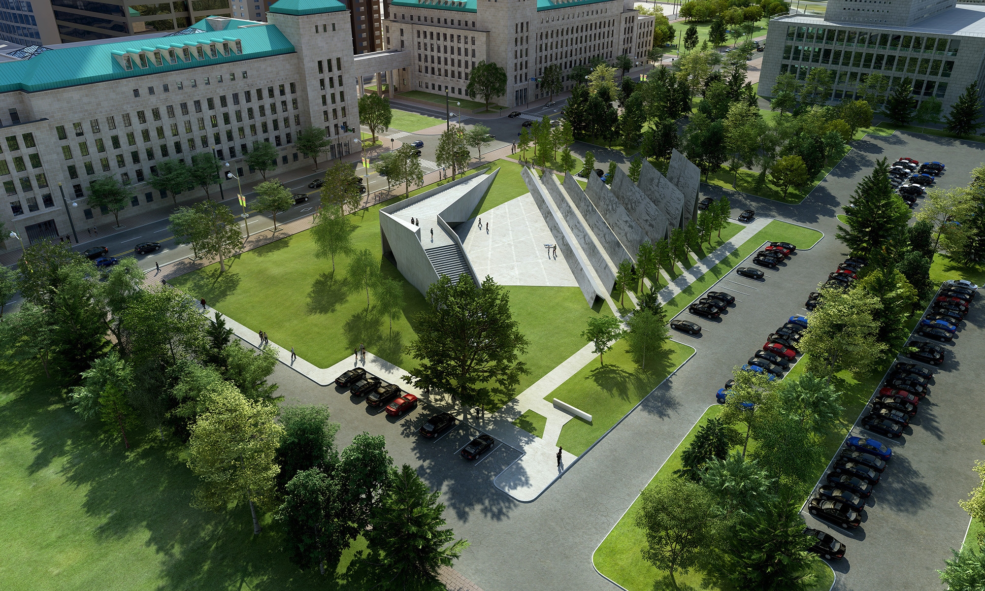ABSTRAKT Studio Architecture Chosen to Design Canadian Memorial to the Victims of Communism, © ABSTRAKT Studio Architecture