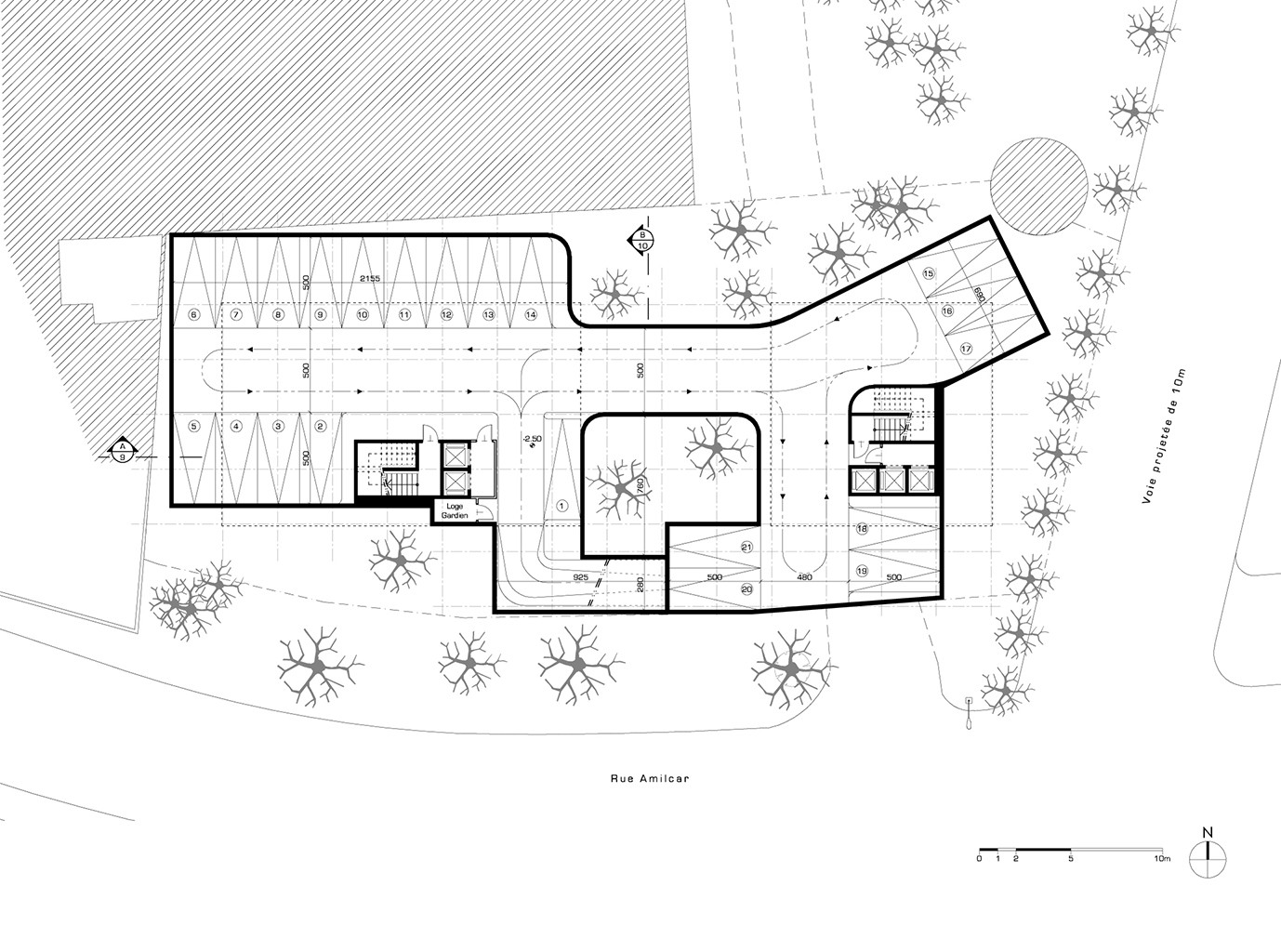 Gallery of hk b architecture designs winning competition for Basement entry floor plans