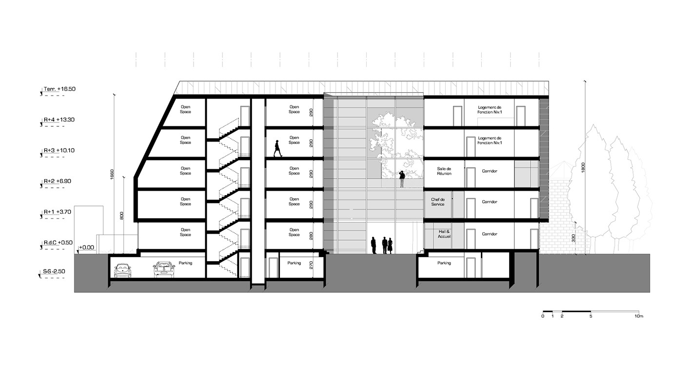 Gallery Of Hk B Architecture Designs Winning Competition Entry For Tunisian Office Building 12