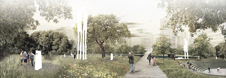 LATERAL, quinto lugar en concurso de diseño del Parque Museo Humano San Borja, Cortesia de LATERAL