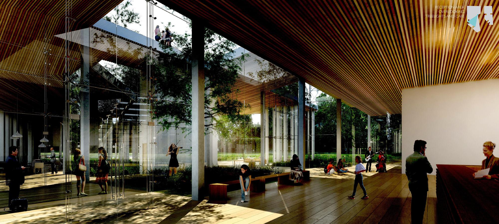 Área de recepción. Imágen © Kengo Kuma and Associates