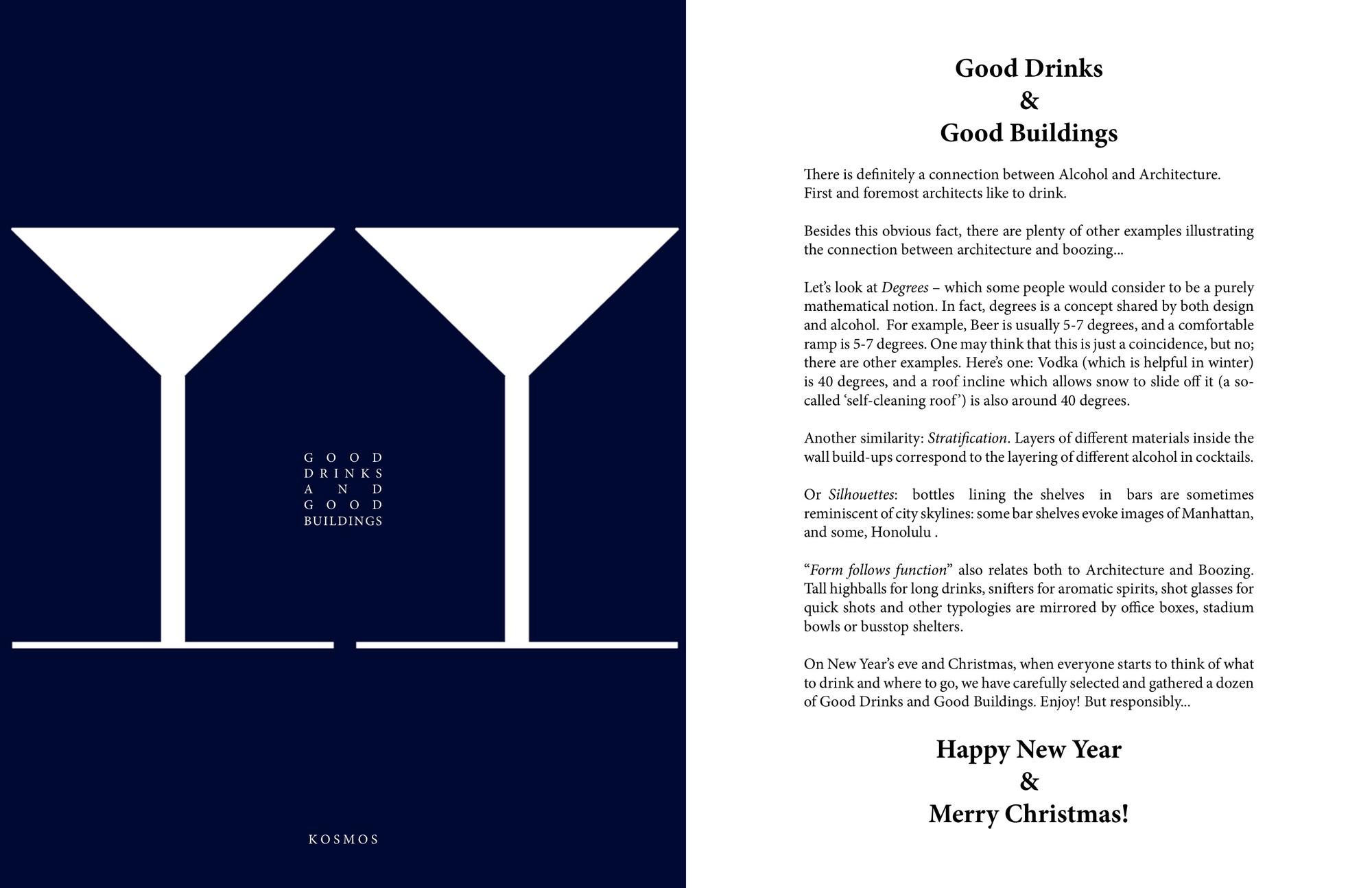 Good Drinks & Good Buildings. Imágen cortesía de Kosmos Architects