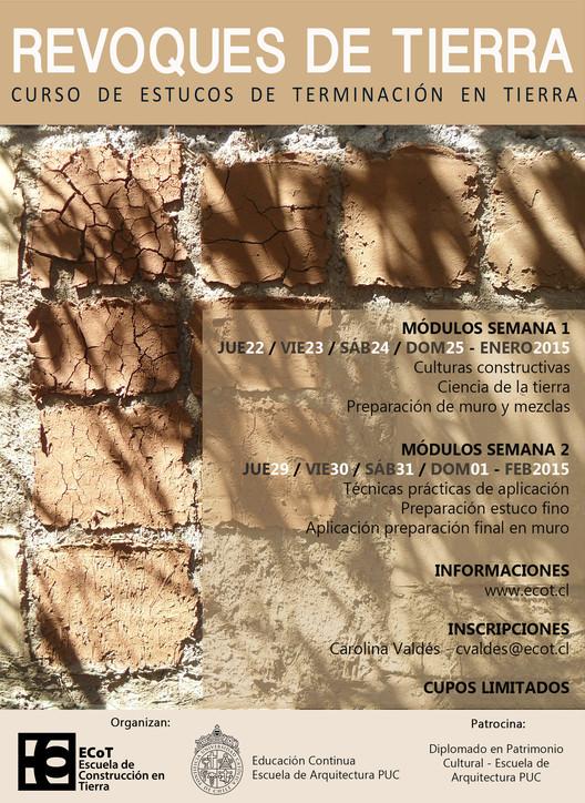 Curso de Estucos y Terminaciones en Tierra Cruda / Escuela de Arquitectura UC