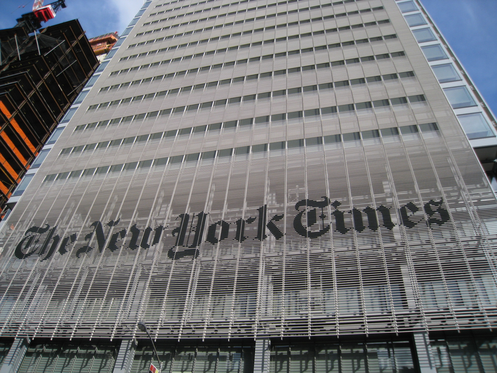 "Somewhat ironically, the New York Times' own building is designed by none other than ""celebrity architect"" Renzo Piano. Image © Ritu Manoj Jethani via Shutterstock"