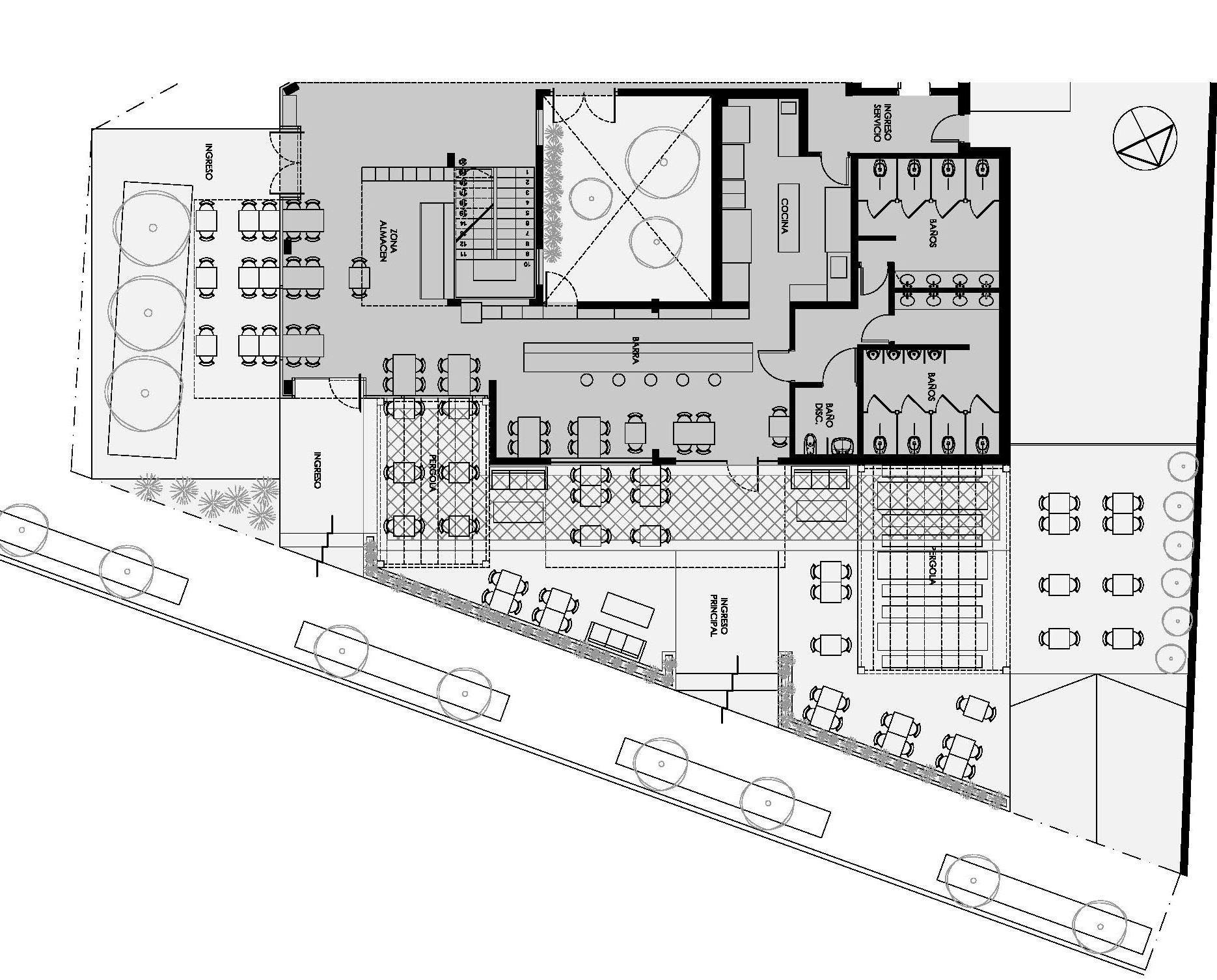 Kantine pablo dellatorre estudio montevideo archdaily for Dimensiones arquitectonicas