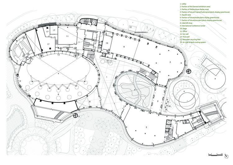 First Floor Plan, Pavilion of future