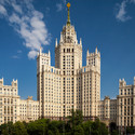"The Kotelnicheskaya Embankment Building, one of the most famous examples of the Stalinist ""Wedding cake"" style. Image © Flickr CC user Sergey Norin"