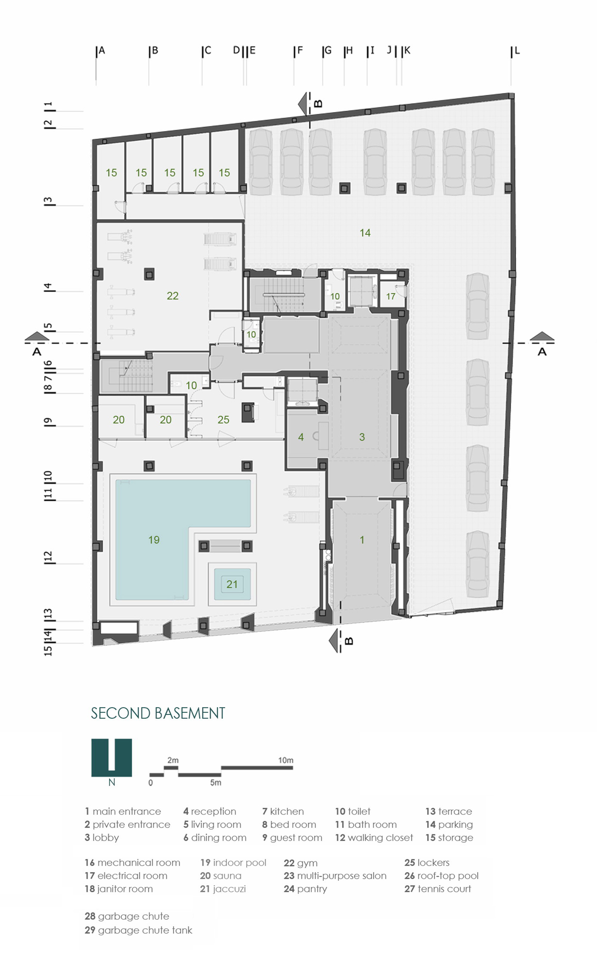 Floor plan of residential building for Residential building plans