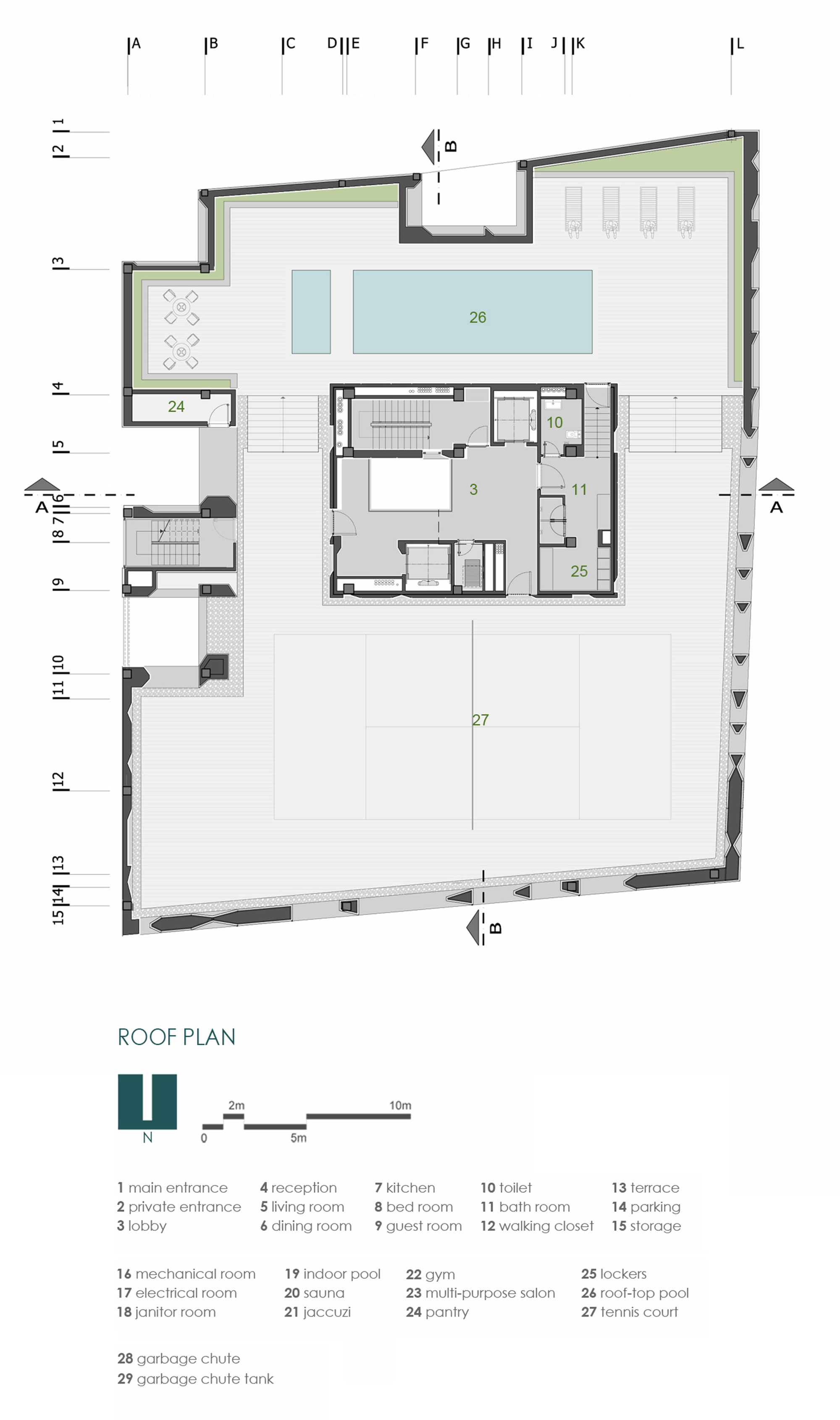 Gallery of sipan residential building ryra studio 20 for Residential building floor plan