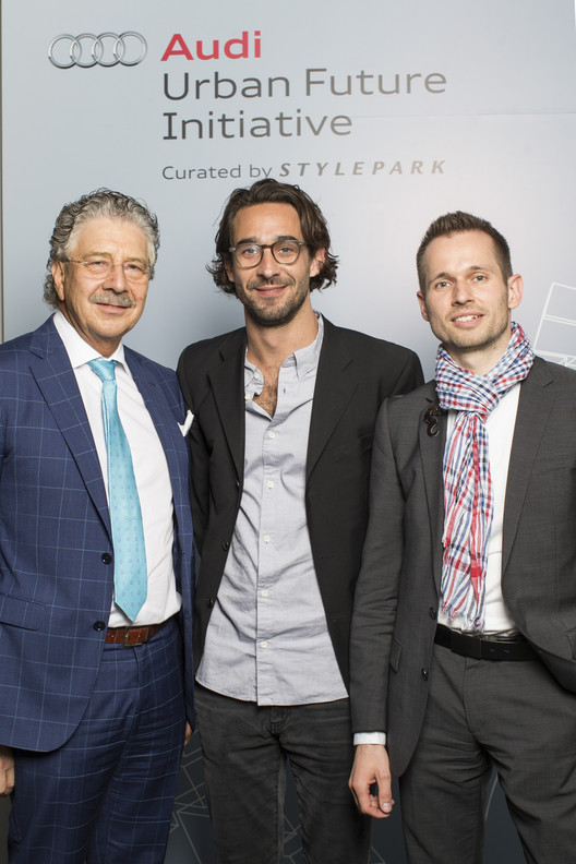 Team Berlin: (L to R) Paul Friedli, Max Schwitalla, Arndt Pechstein. Image © Audi Urban Future Initiative