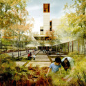 Liget Budapest Awards Graeme Massie Architects' Museum of Ethnography Third Place Garden View. Image © Graeme Massie Architects