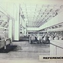 Interior perspective view of the proposed library (date unknown)