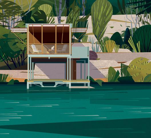 Casa en el Lago, Texas. Image Cortesia de Marie-Laure Crushi