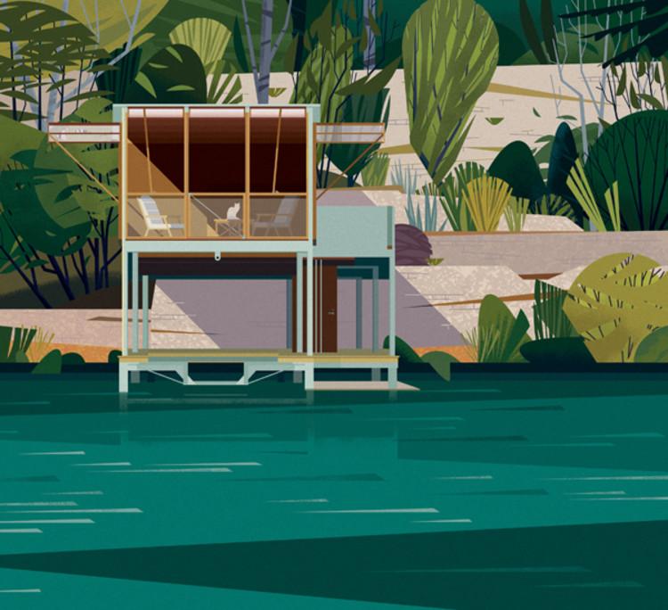 Casa en el Lago, Texas. Image Cortesía de Marie-Laure Crushi