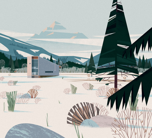Methow Cabin, Washington. Image Cortesia de Marie-Laure Crushi