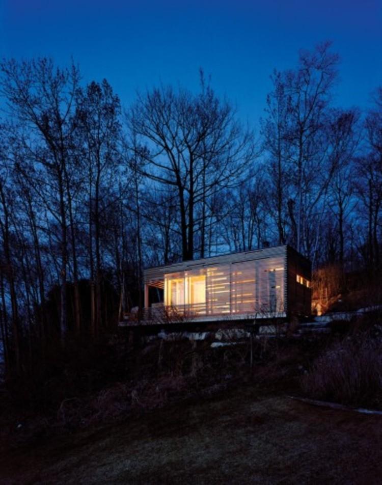 Cortesía de Ben Rahn/A-Frame Inc . ImageSunset Cabin, Canadá