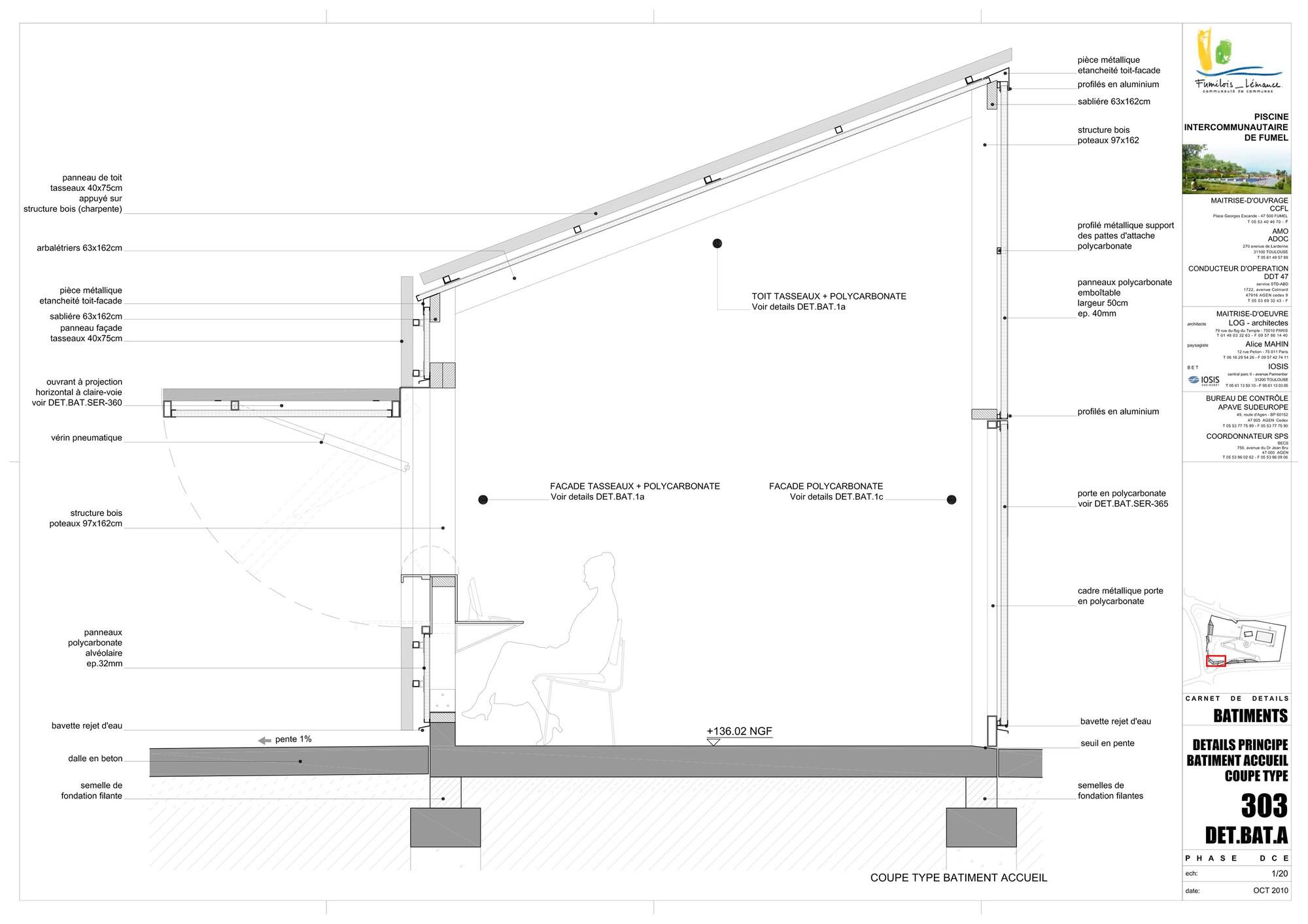 gallery of th tre d 39 eau swimming pool log architectes 31. Black Bedroom Furniture Sets. Home Design Ideas